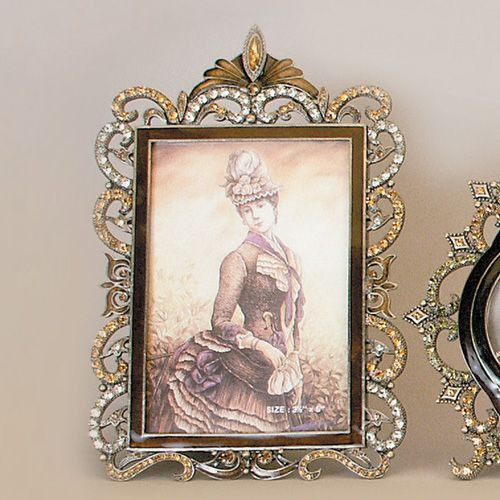 Tizo Enamel Jeweled Picture Frame 3.5 x 5 Inch RS134TP35 - HomeBello