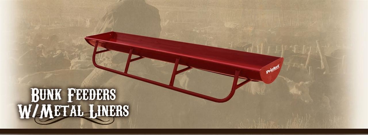 Priefert all steel 10' bunk feeder