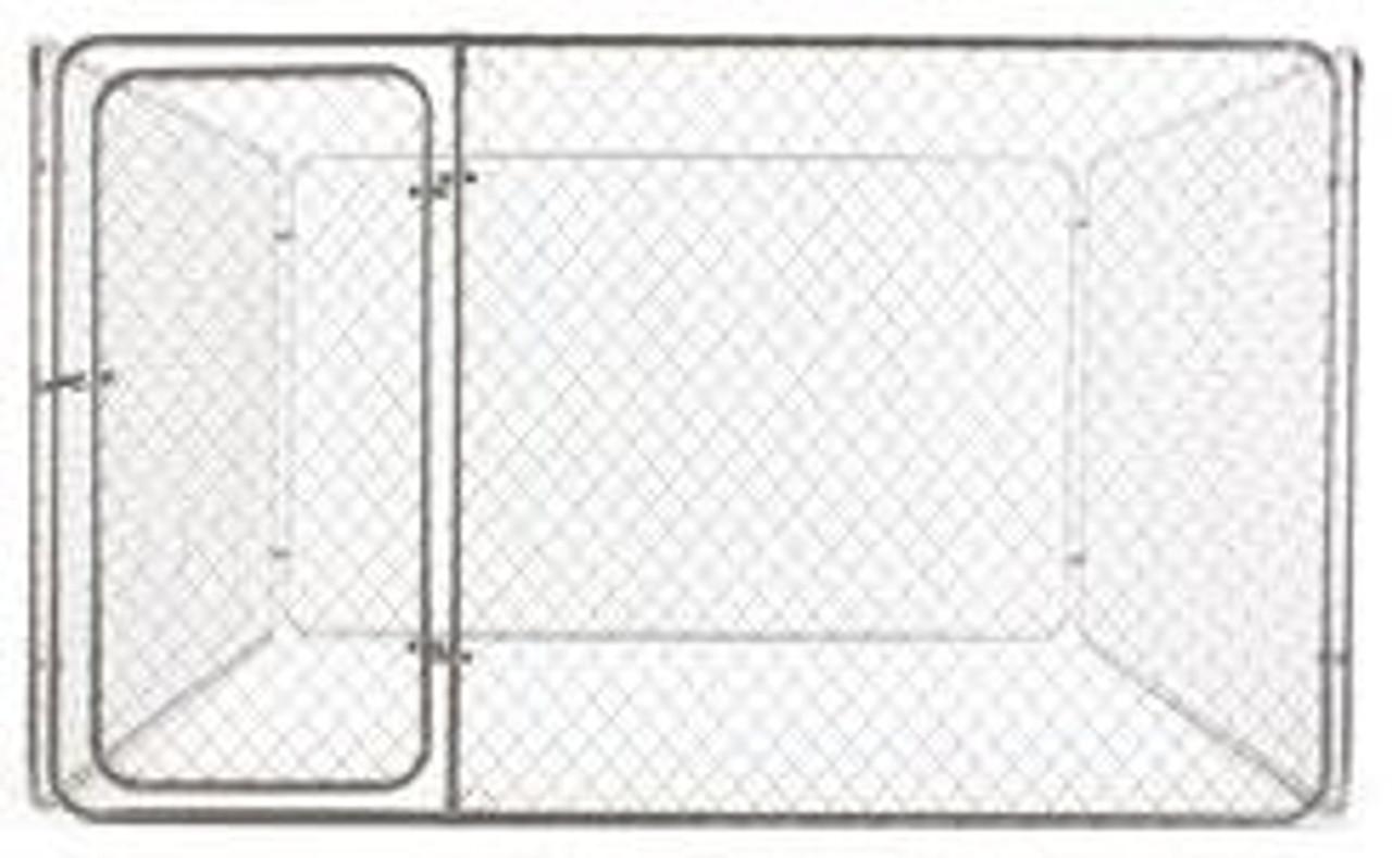 Galvanized Dog Kennel Kit