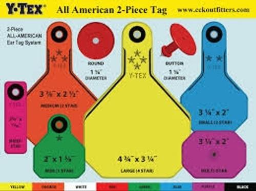 Y-Tex All American 1* Blank Tags