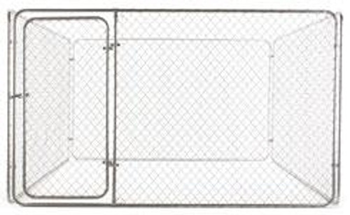Galvanized Dog Kennel Kit