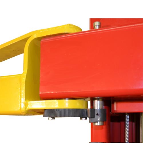 Dover's Proven Heavy Duty Automatic Arm Restraints on the Weaver Lift W-Pro10