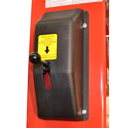 Single Point Safety Lock release handle allows complete operation from the Power Column.