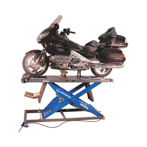 K&L MC625R Motorcycle Air Lift Blue