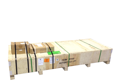 """Shipping Package L91"""" x W36"""" x H16"""" (power pump add 12"""" to height) shown with power pump and optional W-BlackJack on top."""