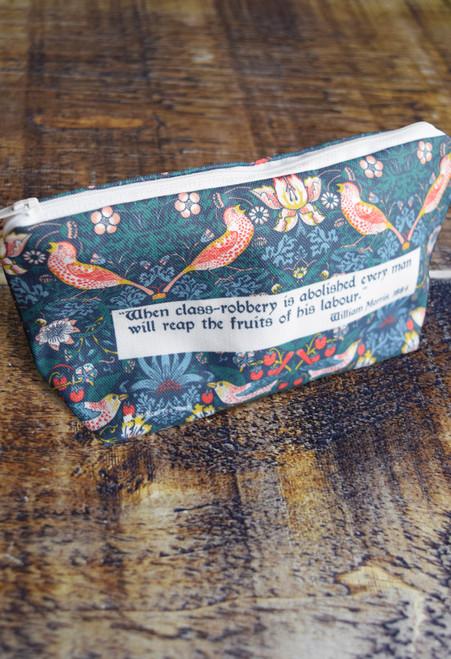 William Morris Strawberry Thief Wash Bag