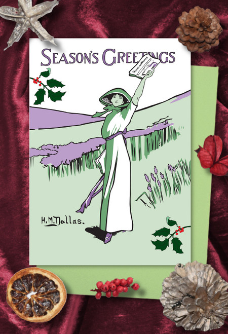 Votes for Women Wanted Christmas cards pack of 8