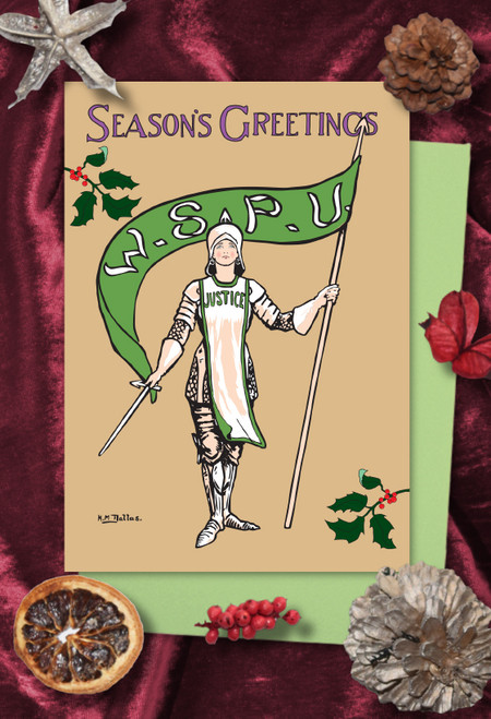 Joan of Arc Suffragette Christmas cards  pack of 8