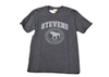 Black Heather T-shirt w/ Monochromatic Seal