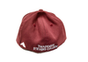 Flat brim embroidered hat