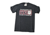 Black Heather T-shirt w/ Maroon and White