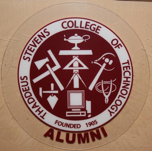 Round Alumni Window Cling