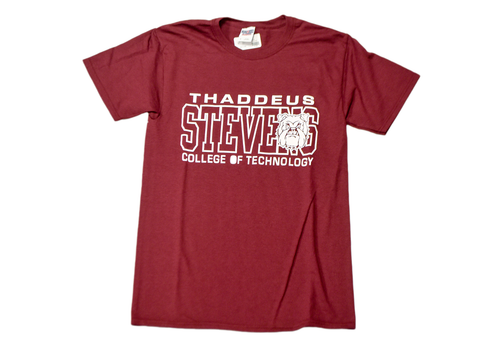 Maroon T-shirt w/ White