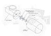 Replacement Spinalator Travel Motor with Heat Sink Diagram