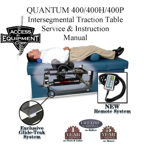 Quantum 400 IST Table Owners & Parts Manual - Printed Version