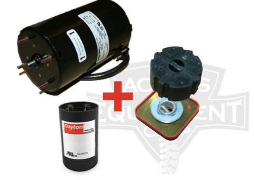 Replacement Spinalator IST Table Elevation Motor, Brake, Puck, & Capacitor
