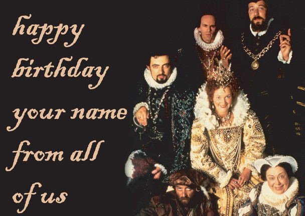Blackadder Goes Forth 2 Birthday Card
