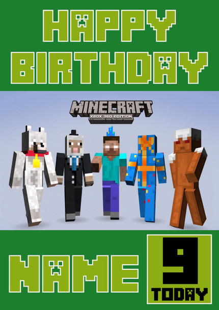 Minecrafting Theme Pro Birthday Card