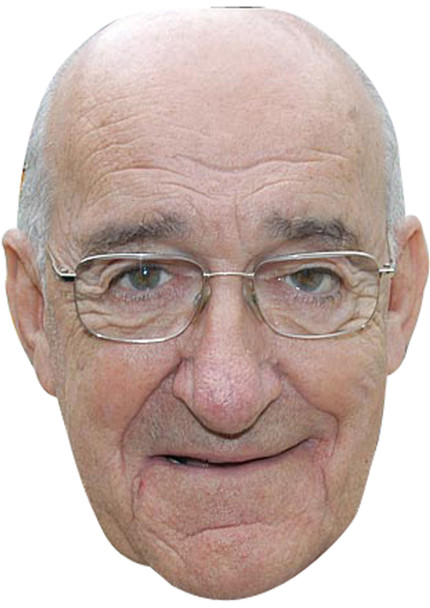 Jim Bowen Darts 2018 Celebrity Face Mask