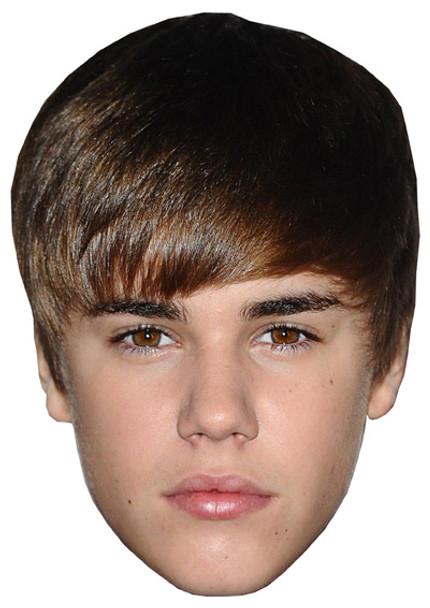 Young Justin Bieber Celebrity Face Mask