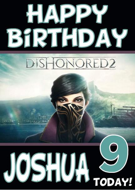 Dishonoured 2 Birthday Card