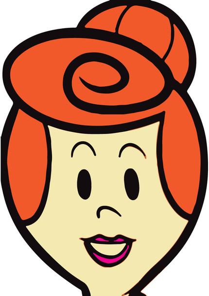 Wilma Flintstones Celebrity Party Face Mask