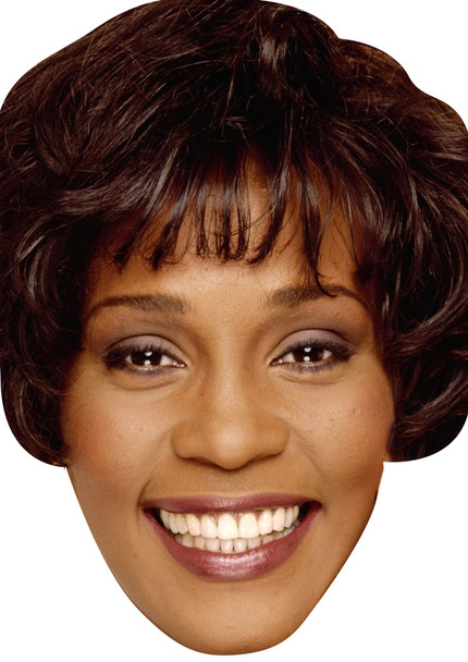 Young Whitney Houston Celebrity Party Face Mask