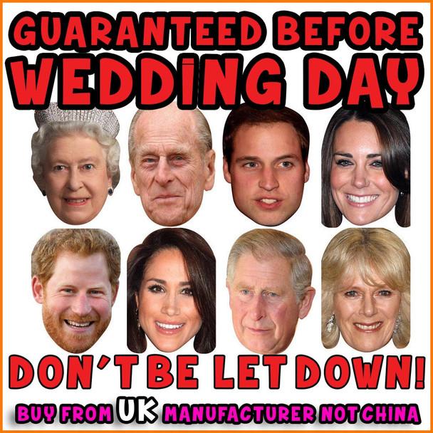 GUARANTEED BEFORE WEDDING 8 Royal Family Face Masks for Harry & Meghan Wedding