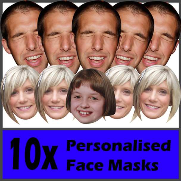10 X Personalised Face Masks Stag | Hen | Birthday | Wedding