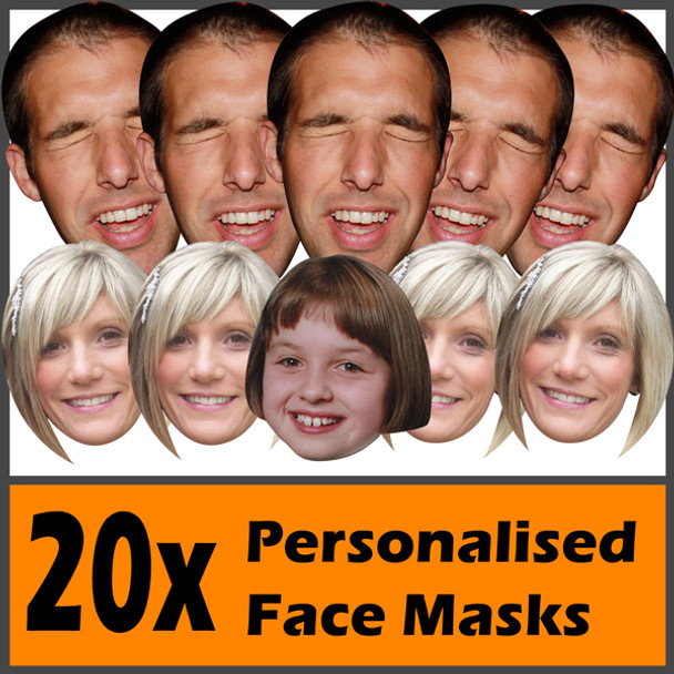 20 X Personalised Face Masks Stag   Hen   Birthday   Wedding