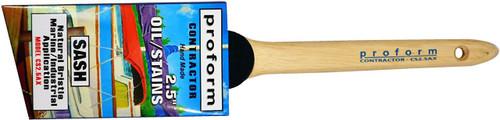 """Proform Contractor Oil 3"""" Angled Sash Natural Bristle"""