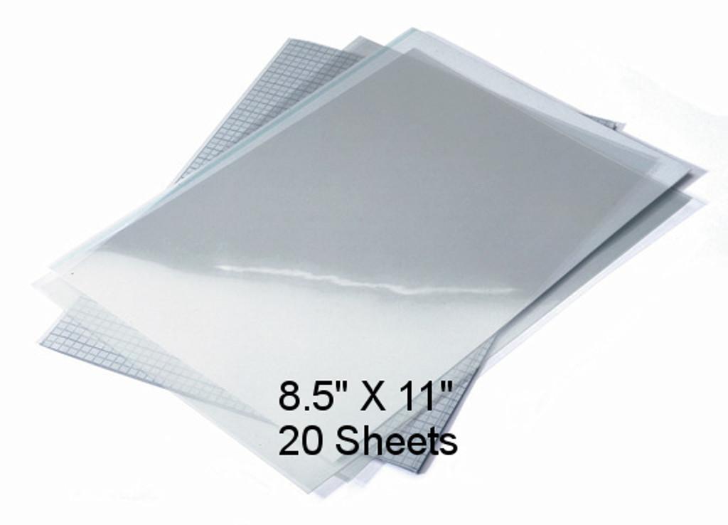 """Waterproof Screen Positive Inkjet Film 8.5""""X11"""" 20 Sheets"""