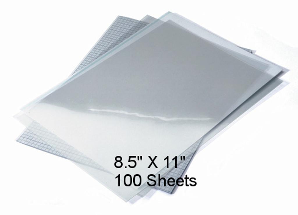 """Waterproof Screen Positive Inkjet Film 8.5""""X11"""" 100 Sheets"""