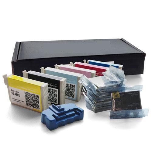 Mega Black Epson 1400/1430 Refillable Cartridge Kit