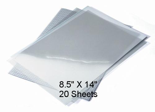 """Waterproof Screen Positive Inkjet Film 8.5""""X14"""" 20 Sheets"""