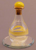 """Pale Yellow Tear Bottle - pictured with Optional 2"""" Beveled Mirror - Sold Separately"""