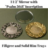 Tear Bottle Mirrors and Trays Tear Bottle Filigree Trays Tear Bottle Filigree and Solid Trays Domes