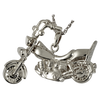 Motorcycle - Sterling Silver with Stainless Steel Rope Chain - Sold Separately