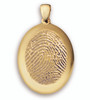 Grand Charm in 14k Yellow Gold with Rimmed Finger Print