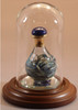 """Blue Marble Contemporary Tear Bottle - pictured with Short Mini Dome with Optional 1 1/2"""" beveled Mirror - Each Sold Separately"""