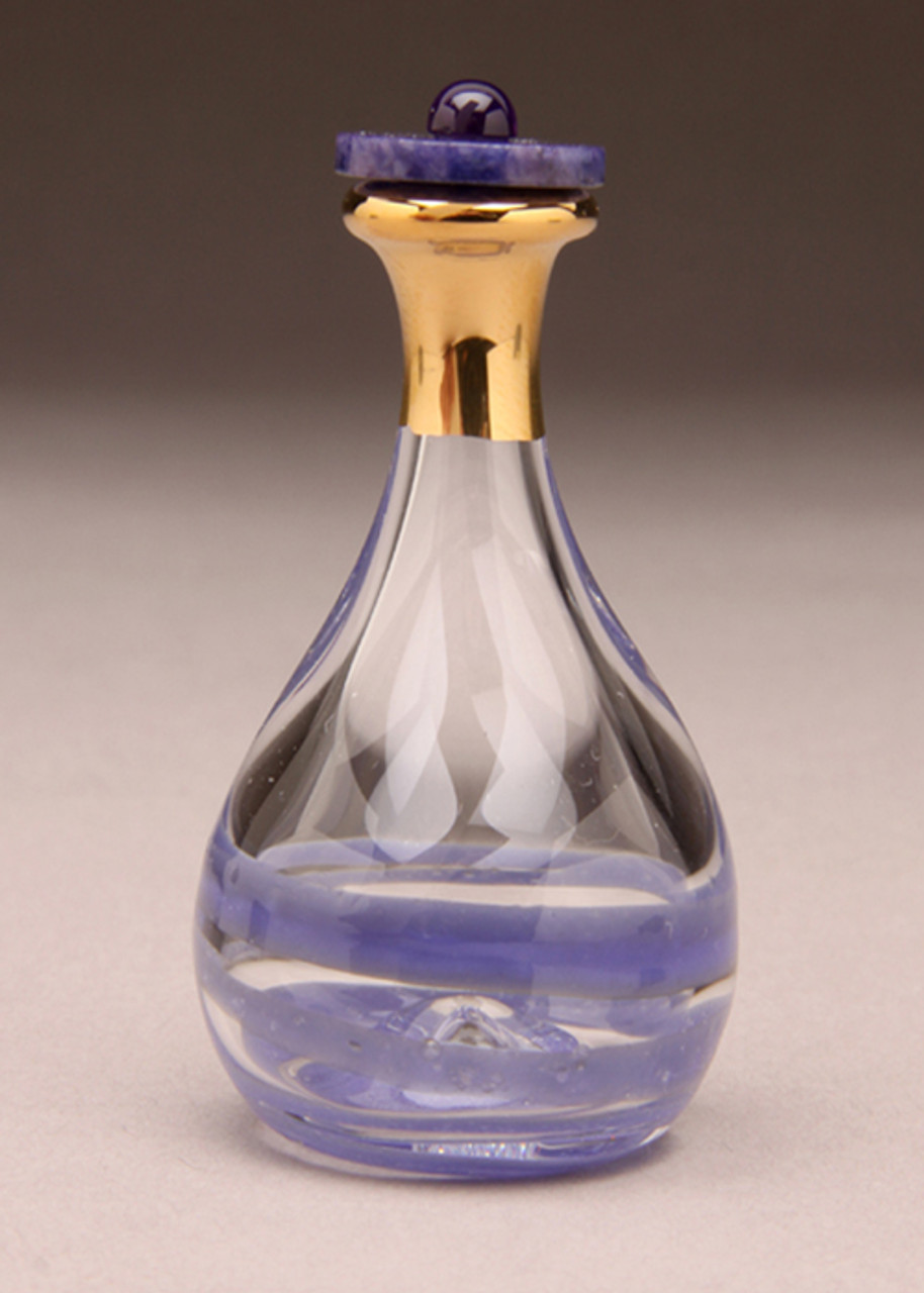 Amethyst Contemporary Tear Bottle - Optional Trays, Mirrors and Domes Sold Separately