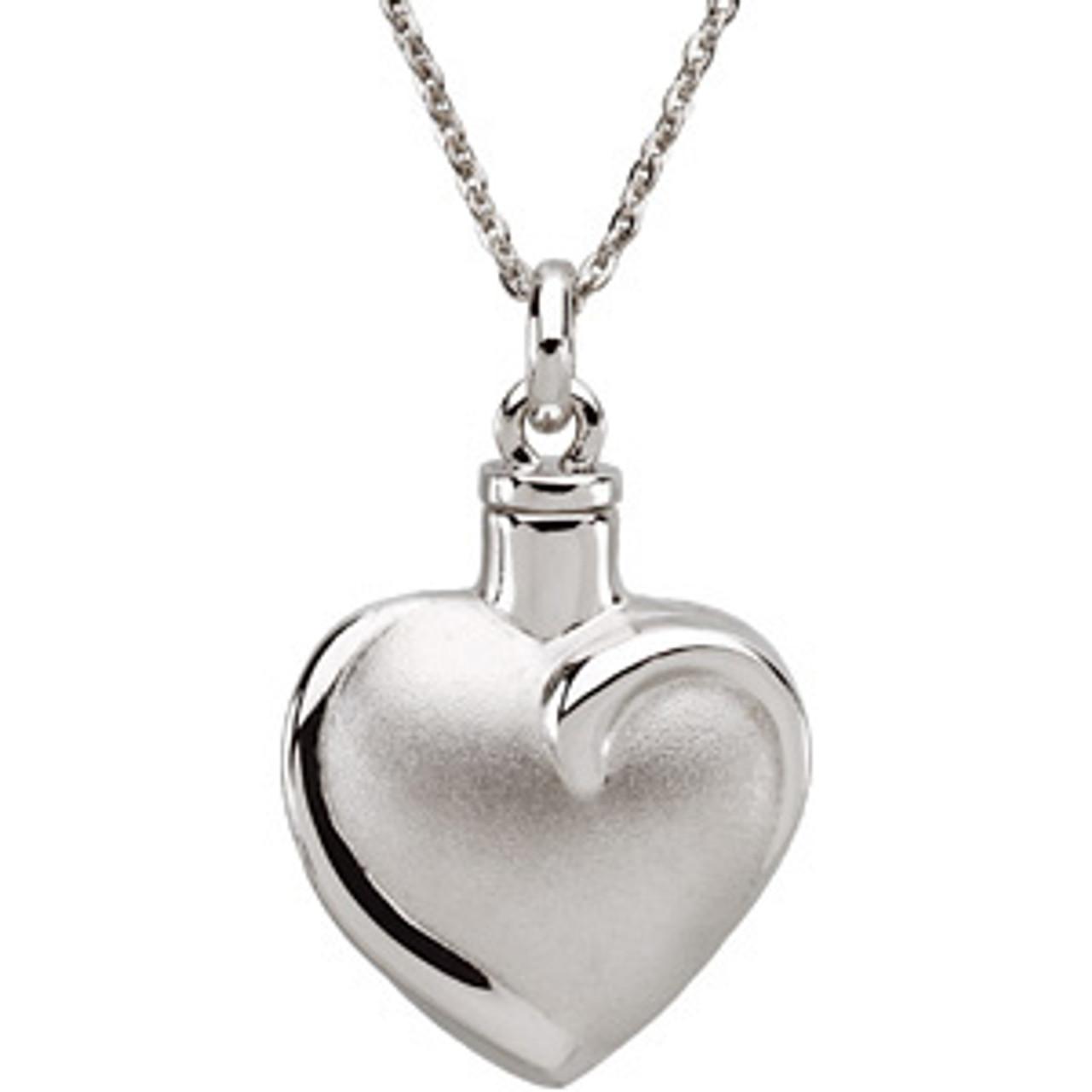Fancy Heart™ Ash Pendant 26.46mm x 19.56mm 10.00 grams 6.43 DWT