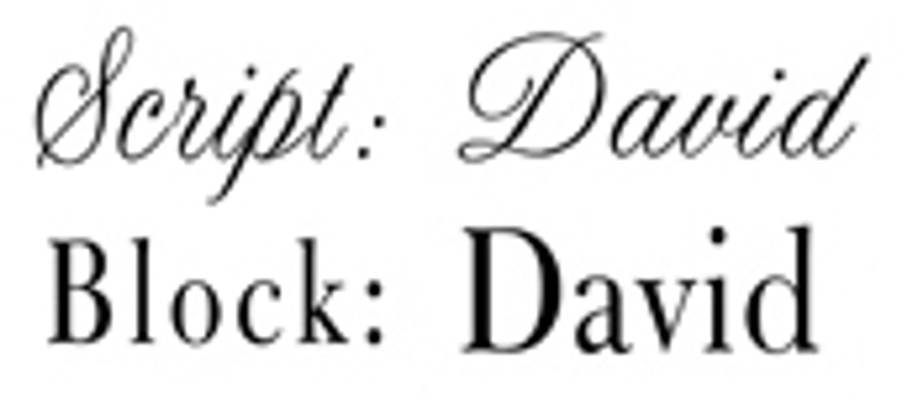 Available Fonts - Script or Block