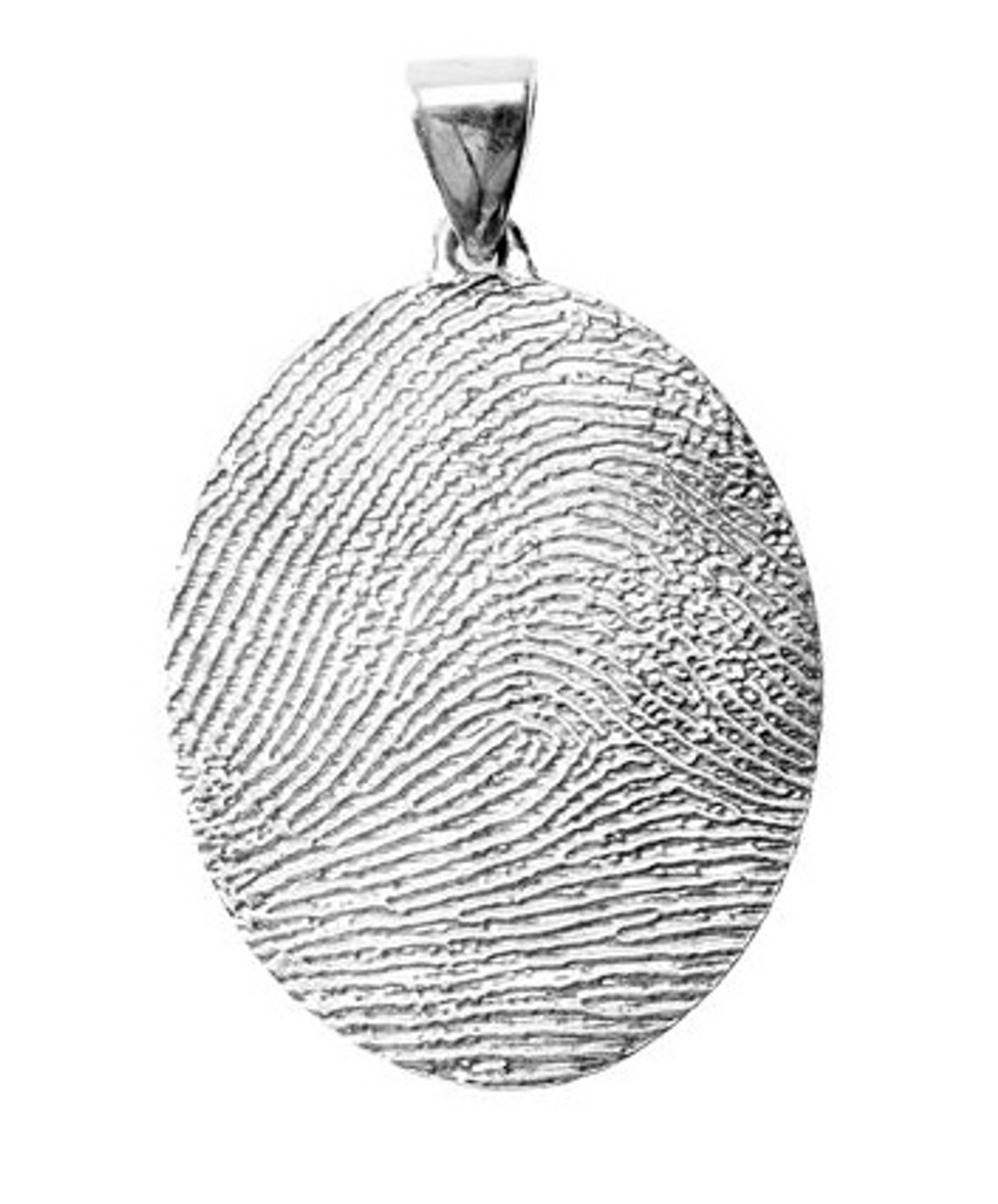 Grand Charm in 14k Gold with Rimmed Finger Print