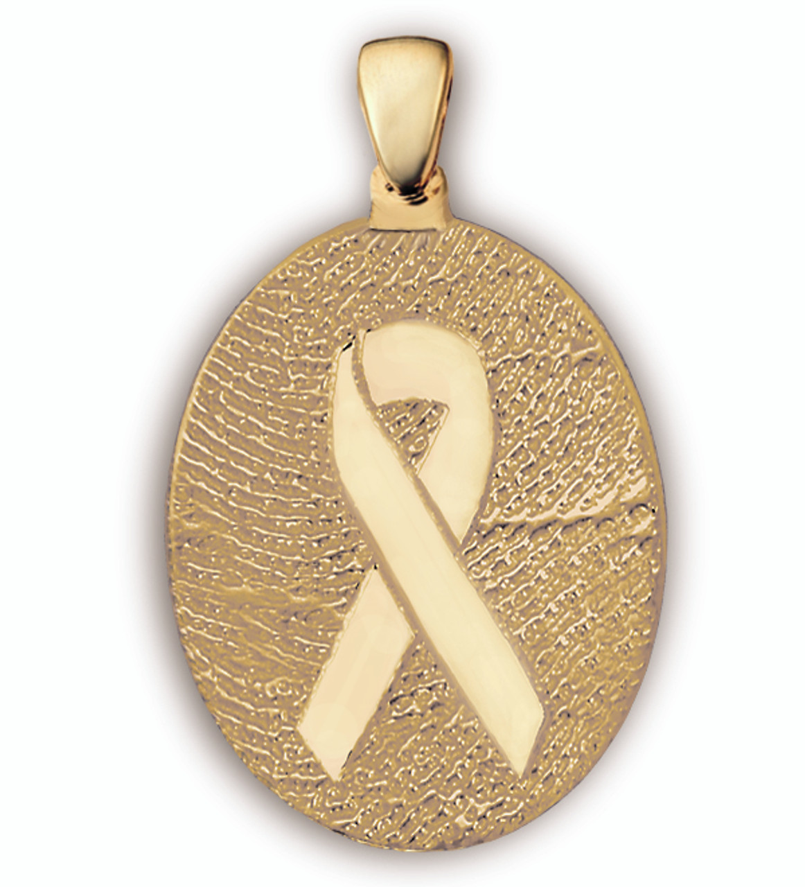 Grand Charm - Personal Expressions in 14k Yellow Gold with Ribbon Overlay