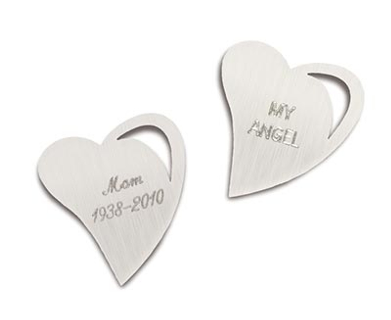 Engraving for Open Heart Noble Bronze Charm