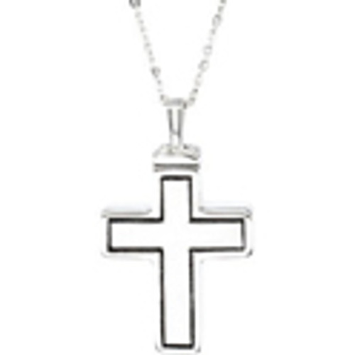 "Large Cross Ash Pendant 1 1/4""L x 3/4""W"