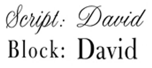 Font Choices Script  Block