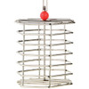 Baffle Cage - Stainless Steel Foraging Parrot Toy - Large