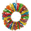 Rainbow Sisal Ring Rope Small Parrot Toy